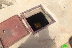 المستعمرون يسبحون في بئر زراعي ويحاولون تدميره في ظهر الزياح فيبلدة الخضر/ محافظة بيت لحم