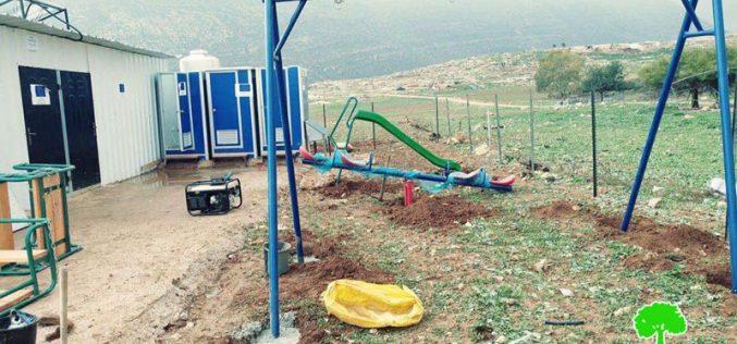 Israeli Occupation Forces to demolish a school in Tana hamlet