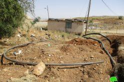 جيش الاحتلال يدمر خطوط مائية ويصادر أخرى في قرية بردلة