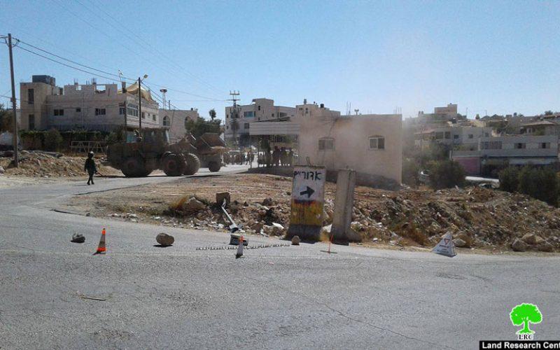 الاحتلال يشرع بإقامة برج عسكري على مدخل قرية خرسا جنوب الخليل