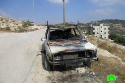 Israeli gangsters torch Palestinian vehicles in Ramallah