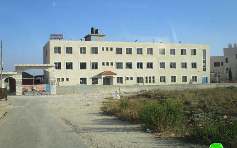 إخطارات بوقف البناء في منشآت تعليمية وسكنية وتجارية في بلدة سلواد