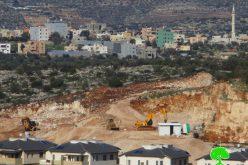 """الشروع بشق طريق استعماري لربط مستعمرتي """"عتس فرايم"""" و """"الكانا"""" على أراض قرية مسحة"""