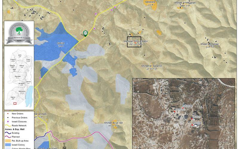 إخطارات بوقف العمل في مساكن بقرية شعب البطم شرق يطا