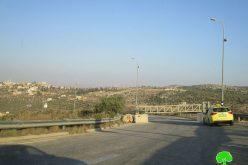 إغلاق المدخل الغربي لبلدة كفر الديك
