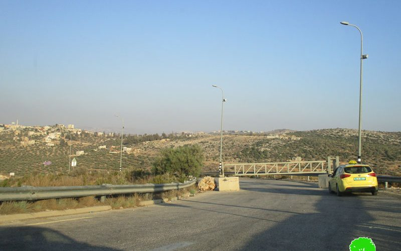 The Israeli Forces close the entrance of Kfar Ad-Dik town