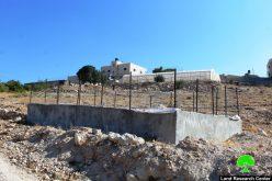 الاحتلال يصدر أمراً بهدم بركة مياه في قرية رابود جنوب الخليل
