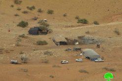 Stop-work orders on structures in the Jordan Valley nomad gathering of Al-Hadidiya