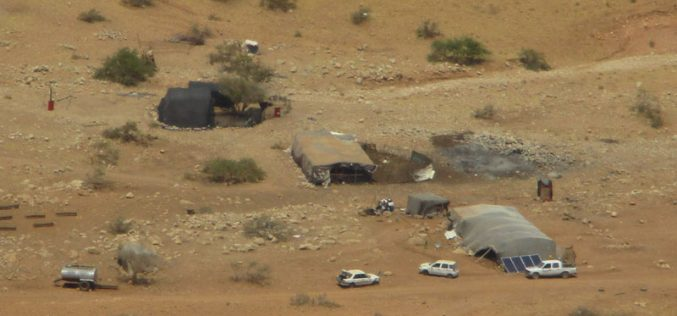 Stop-work orders on structures in the Jordan Valley nomad gathering of Al-Hadidiya