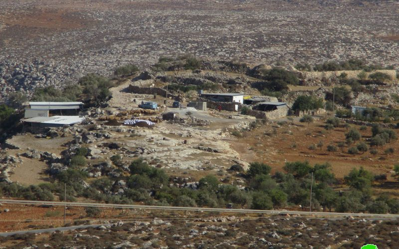 Stop-Work order on water pipeline in the Nablus village of Duma