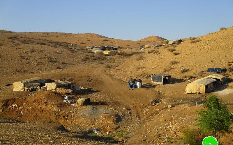 """مصادرة مواد بناء وألواح من الصفيح معدة لإنشاء مسكن في خربة """" مكحول"""" / محافظة طوباس"""