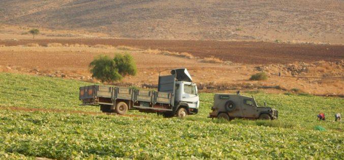 مصادرة 3 مركبات فلسطينية بحجة وجودها في منطقة مغلقة عسكرياً في منطقة البقيعة
