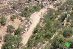 وقف العمل في طريق زراعي ومصادرة كرفان في قرية بتير بمحافظة بيت لحم