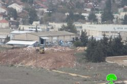 Israeli Occupation Forces seal off the eastern entrance of Silwad town