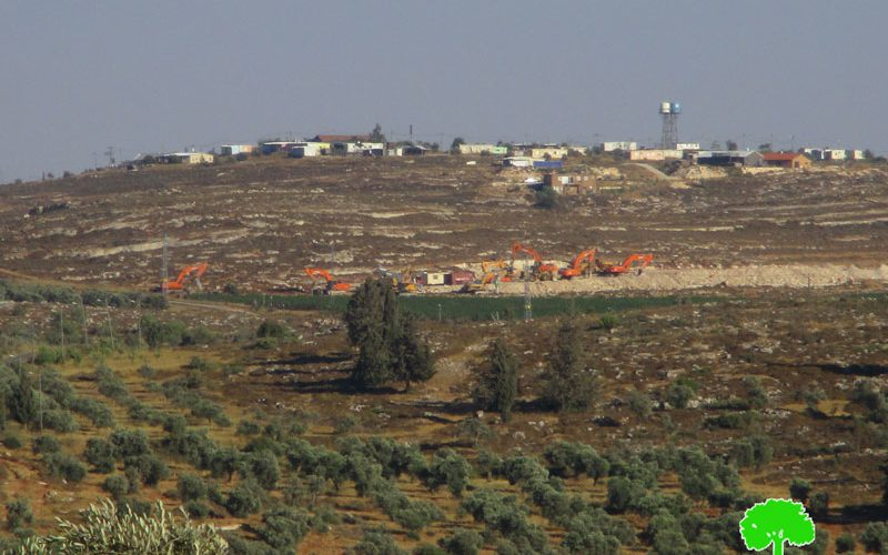 Israel's Occupation machineries initiate construction of Amihai colony on  Nablus lands