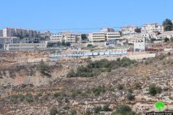 إضافة 10 كرفانات استعمارية متنقلة على أراضي قرية نحالين بمحافظة بيت لحم