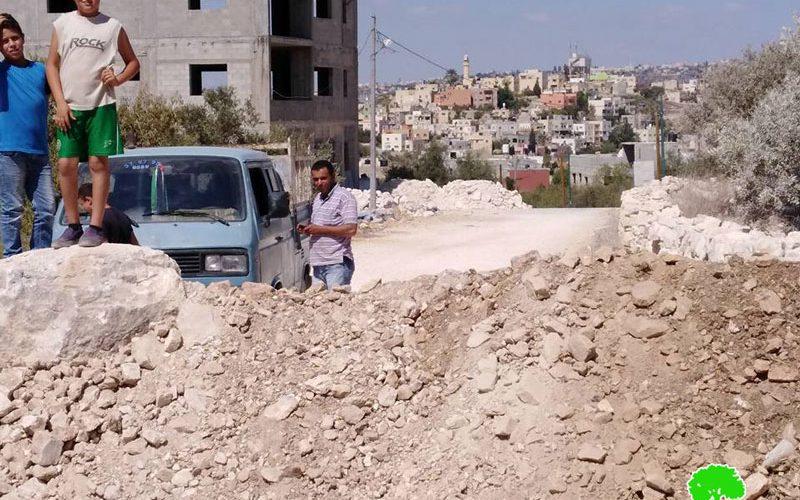 جيش الاحتلال يغلق طريقاً زراعياً في بلدة كفر اللبد بمحافظة طولكرم