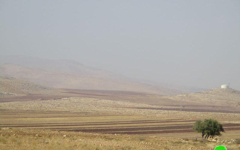 الإعلان عن منطقة سهل قاعون منطقة مغلقة عسكرياً / محافظة طوباس