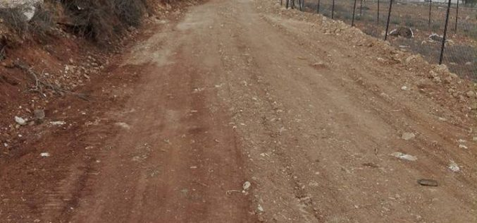 Israel's Occupation Forces halt rehabilitation works on agricultural road in Nablus governorate