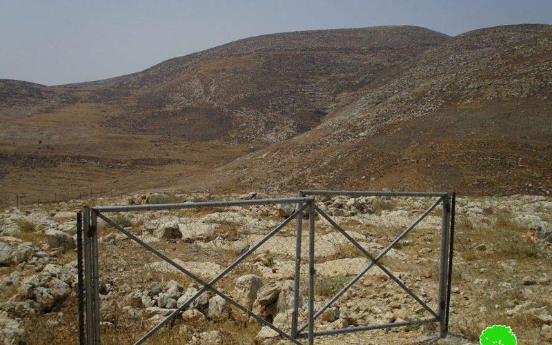 إخطار بإخلاء خمسة محميات رعوية في خربة طانا بمحافظة نابلس