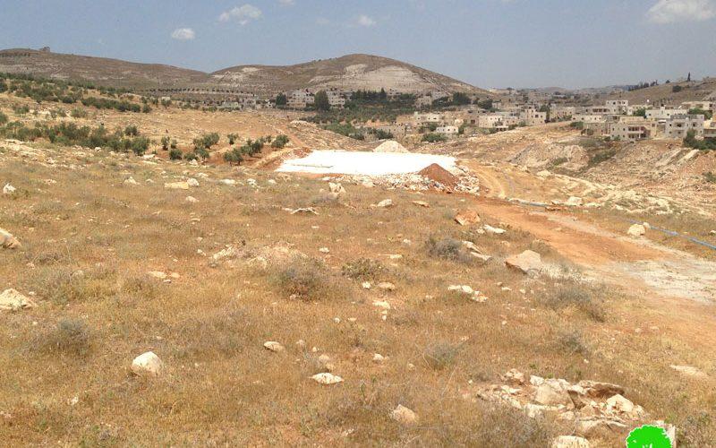 إخطارات بوقف العمل والبناء لأرضية مدرسة قيد الإنشاء في بيت تعمر / محافظة بيت لحم