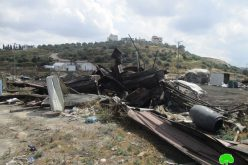 Israel's Occupation Forces  demolish charcoal workshops in Jenin