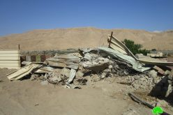 Israeli Occupation Forces demolish structures in Jericho governorate
