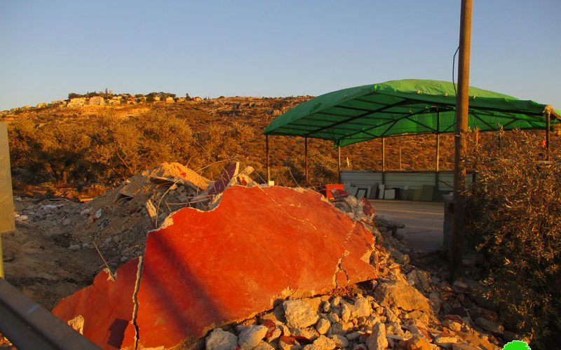 Israel's Occupation Forcesdemolish parts of carwash in Salfit governorate