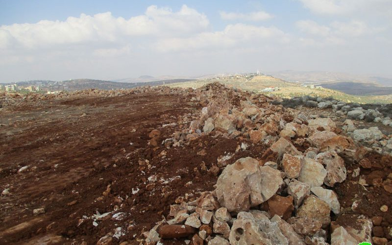 Israel's Occupation Forces  demolish retaining walls and close roads in Nablus governorate