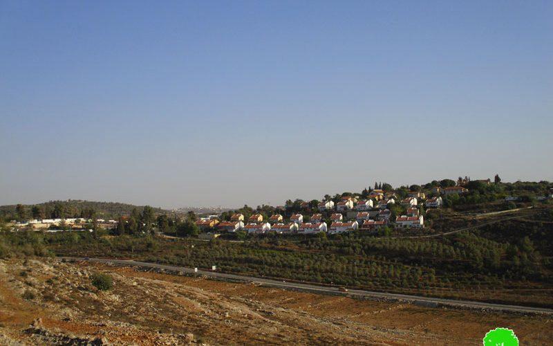 """الشروع ببناء سياج فاصل حول مستعمرة """" حلميش"""" على حساب أراضي قرية دير نظام بمحافظة رام الله"""