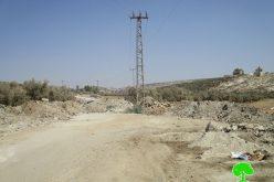 إغلاق المدخل الشرقي لقرية شقبا بالسواتر الترابية / محافظة رام الله
