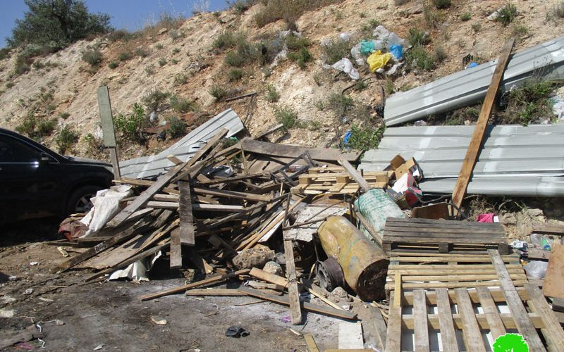 Israel's Occupation Forces demolish charcoal-making facility in Nablus