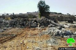 Israel's Occupation Forces  demolish agricultural room in the Hebron city of Yatta