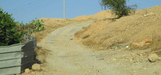 Israel's Occupation Forces halt rehabilitation works on agricultural road in Nablus governorate