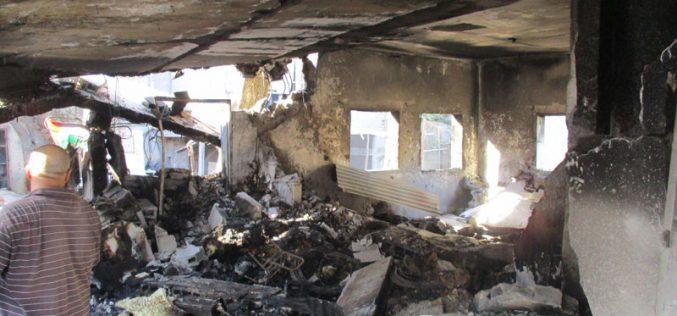 جيش الاحتلال يفجر منزل الشهيد عادل حسن عنكوش في قرية دير أبو مشعل / محافظة رام الله