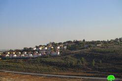 تمديد سريان وضع اليد على أراضي من قرية دير نظام بهدف إقامة سياج عازل