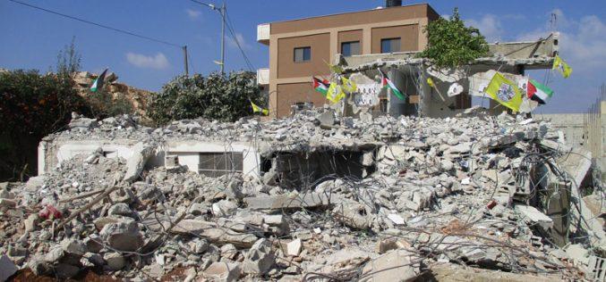 هدم 3 مساكن بذريعة أمنية في قرية دير أبو مشعل / محافظة رام الله