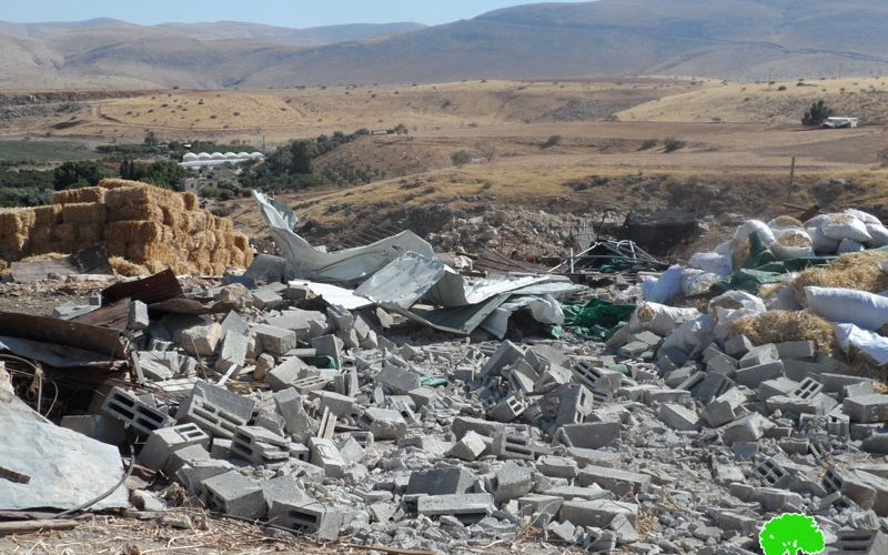 Israel's Occupation Forces  demolish three residences in Mid Jordan Valley