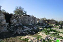 اخطار نهائي يتضمن هدم خربة ابو البصل شمال مدينة سلفيت