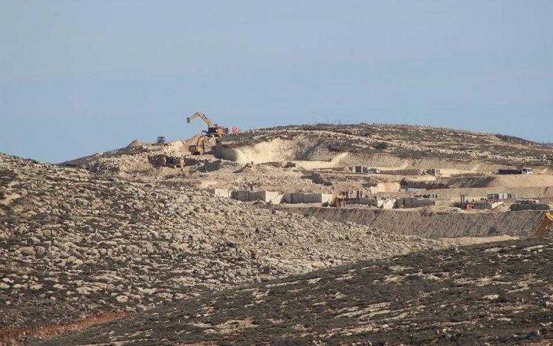 """الشروع ببناء وحدات سكنية في مستعمرة """" عميحاي"""" جنوب قرية جالود / محافظة نابلس"""
