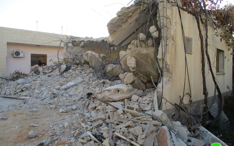 """Israel's Occupation Forces  demolish a prisoner's residence on """"security claim"""" in Jenin governorate"""
