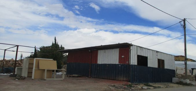 Israeli Occupation Authorities notify workshops and residences of stop-work in Salfit governorate
