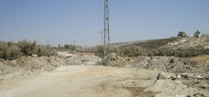 The Israeli Occupation Army closes the eastern entrance to Shaqba village