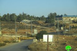 The Israeli Occupation Forces close the entrance of Nabi Saleh village through iron gate