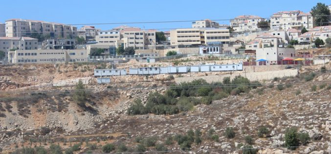 Betar Illit colony adds ten residential caravans at the expense of Nahhalin village's lands