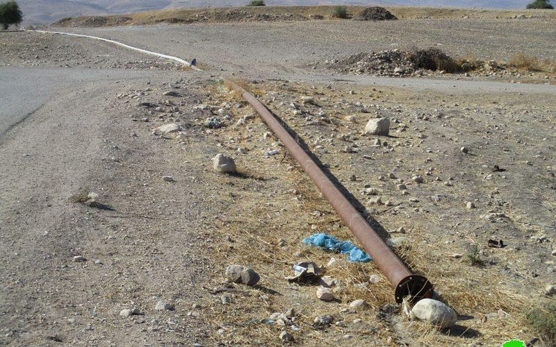 Israeli colonists sabotage and steal water pipelines in Tubas governorate