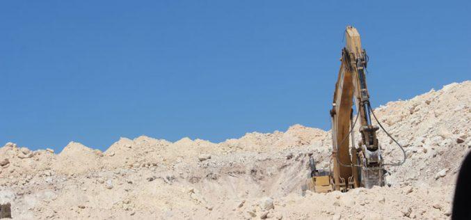 The Israeli Occupation Forces ravage lands after seizure in Bethlehem governorate