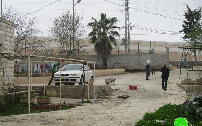 استكمال بناء الجدار العنصري لصالح مستعمرةبيت ايل عائلة حامد محاصرة بالجدار