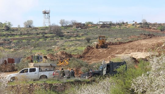 Israeli land leveling in Al Khader village waves for new settlement activities in the area