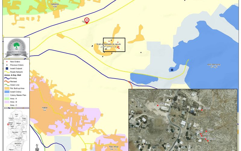 Stop-work Orders in Al Ramadeen – Qalqiliya Governorate